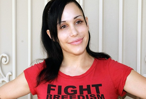"Nadya ""Octomom"" Suleman Unveil's Banner Pushing Cat And Dog Birth Control"